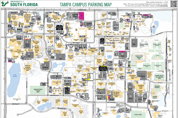 USF Tampa campus parking map